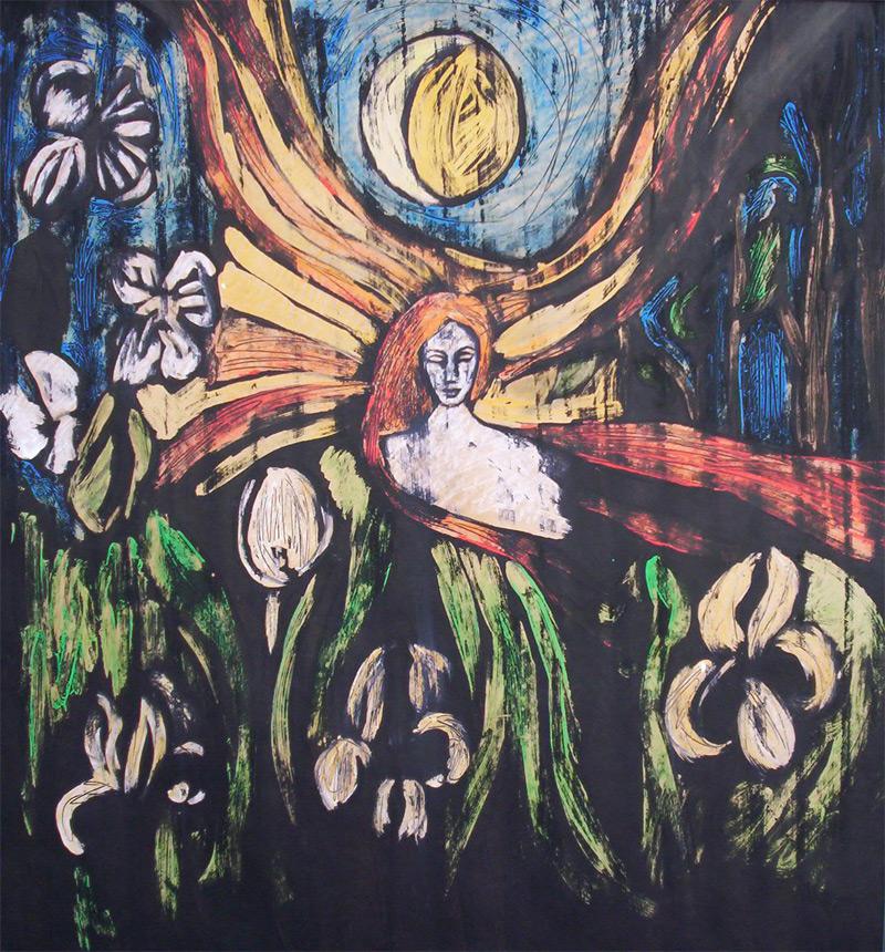 Nouseva kuu, laskeva aurinko, Johanna Vilén, 2006